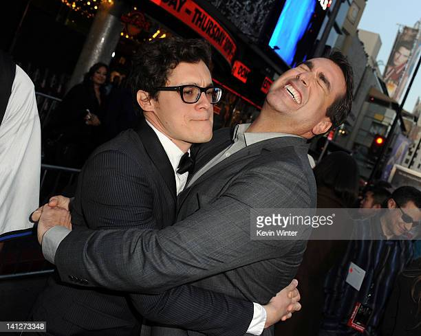 Director Phil Lord and actor Rob Riggle arrive at the premiere of Columbia Pictures' '21 Jump Street' at Grauman's Chinese Theatre on March 13 2012...