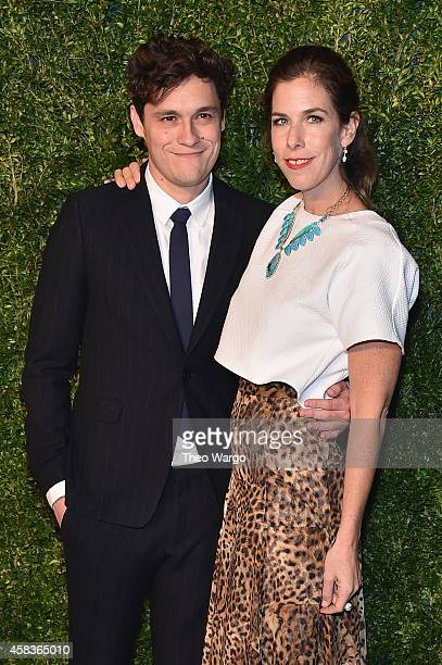 Director Phil Lord and jewelry designer Irene Neuwirth attend the 11th annual CFDA/Vogue Fashion Fund Awards at Spring Studios on November 3 2014 in...