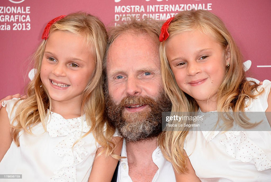 Director Philip Groning with actresses Pia and Chiara Kleemann attend 'The Police Officer's Wife' Photocall during The 70th Venice International Film Festival at Palazzo Del Casino on August 30, 2013 in Venice, Italy.