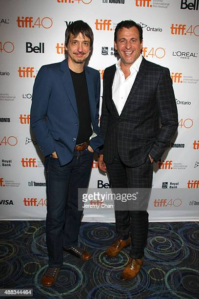 Director Philippe Falardeau and Actor Patrick Huard attend the 'My Internship in Canada' photo call during the 2015 Toronto International Film...