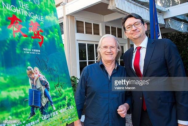 Director Philippe Muyl and The Consul General Of France Mr Axel Cruau attend the The Consul General Of France's Reception For The FrancoChinese...
