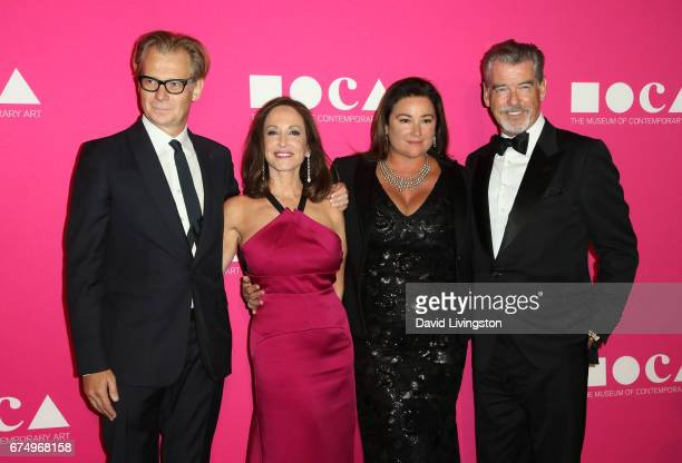 MOCA Director Philippe Vergne activist Lilly Tartikoff Karatz journalist Keely Shaye Smith and actor Pierce Brosnan attend the 2017 MOCA Gala at The...