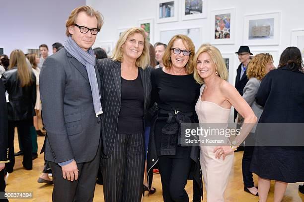 MOCA director Philippe Vergne Cynthia Wornham Ann Philbin and Jamie McCourt attend MOCA's Leadership Circle Members' Opening And Artist Dinner For...