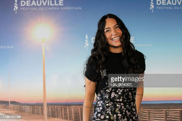 "Director Pippa Bianco poses during a photocall to present the movie ""Share"" during the 45th Deauville US Film Festival, on September 8, 2019 in..."