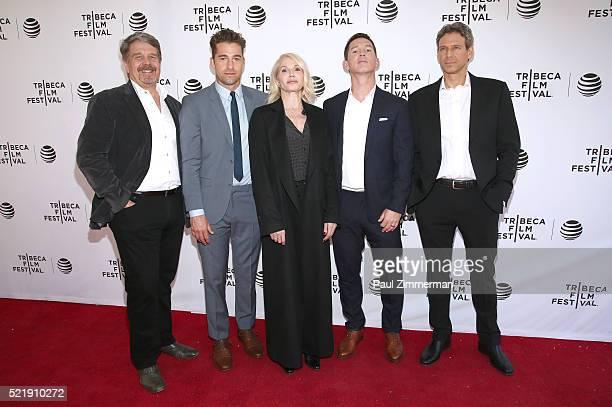 Director, poducer John Wells, Actor Scott Speedman, Actor Ellen Barkin, Actor Shawn Hatosy and Producer, writer Jonathan Lisco at Series Premiere of...