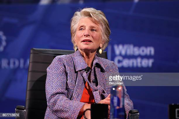 Director President and CEO of The Woodrow Wilson Center Hon Jane Harman speaks at the 2016 Concordia Summit Day 1 at Grand Hyatt New York on...