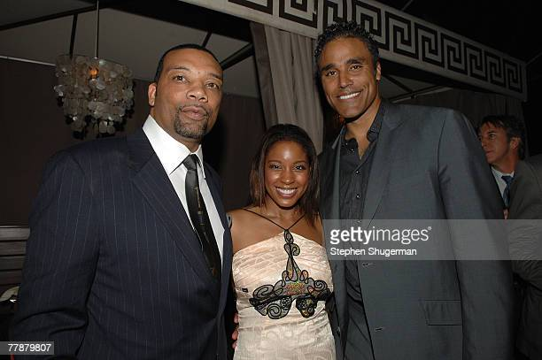 Director Preston A Whitmore II and actors Reagan GomezPreston and Rick Fox attend the after party following the premiere of Screen Gems This...