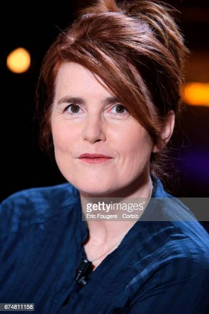Director producer and screenwriter MarieCastille MentionSchaar poses during a portrait session in Paris France on