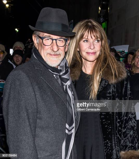 Director producer and screenwriter Steven Spielberg and actress Kate Capshaw Spielberg are seen arriving at the 2018 National Board of Review Awards...