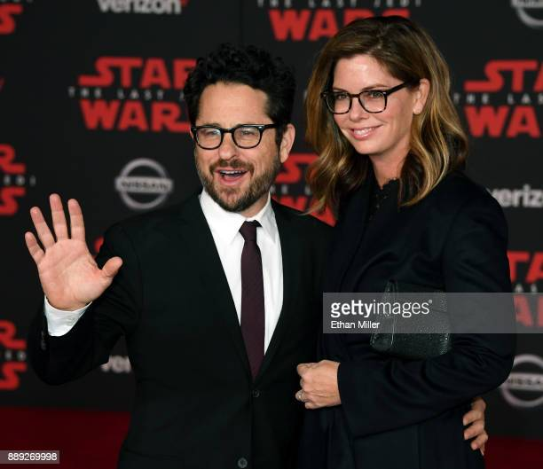 Director producer and writer JJ Abrams and his wife public relations executive Katie McGrath attend the premiere of Disney Pictures and Lucasfilm's...