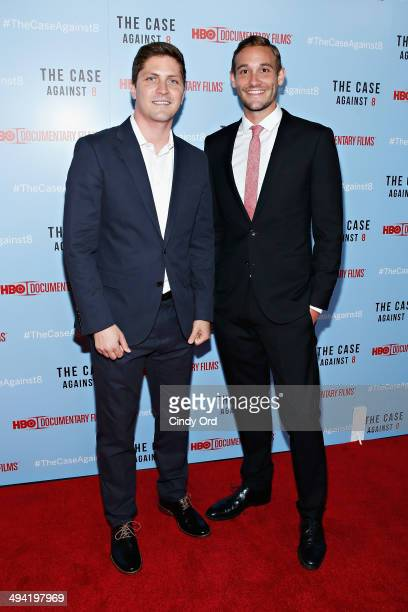 Director/ producer Ben Cotner and director/ producer Ryan White attend 'The Case Against 8' screening at Time Warner Screening Room on May 28 2014 in...