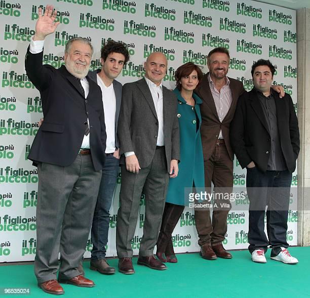 Director Pupi Avati Marcello Maietta Luca Zingaretti Laura Morante Christian De Sica and Nicola Nocella attend 'Il Figlio Piu Piccolo' photocall at...
