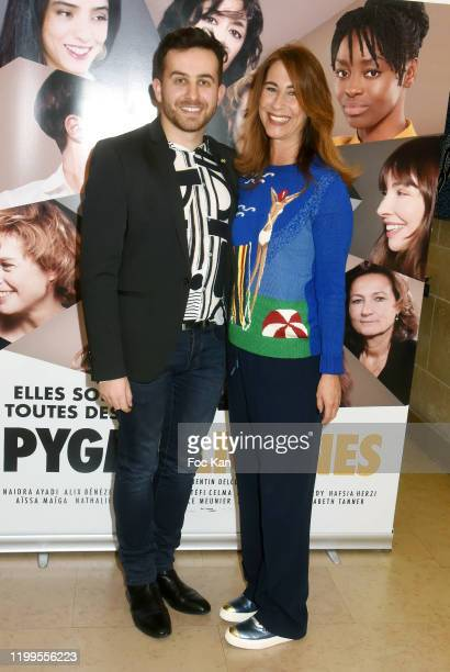 Director Quentin Delcourt and Karolyne Leibovici attend Pygmalionnes Screening at Assemblee Nationale on January 14 2020 in Paris France