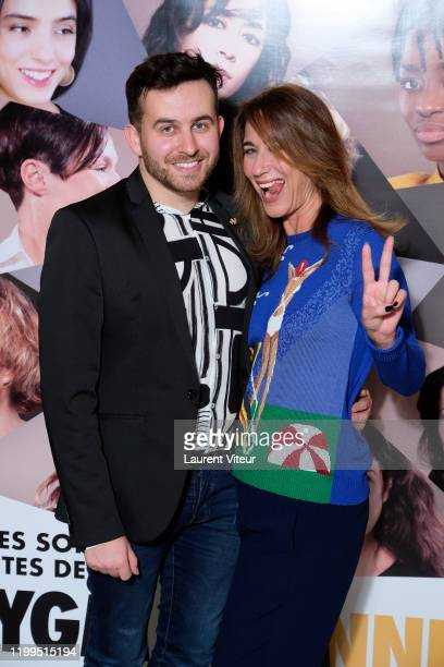 Director Quentin Delcourt and Press Relation Karolyne Leibovici attend the Pygmalionnes Screening At Assemblee Nationale on January 14 2020 in Paris...