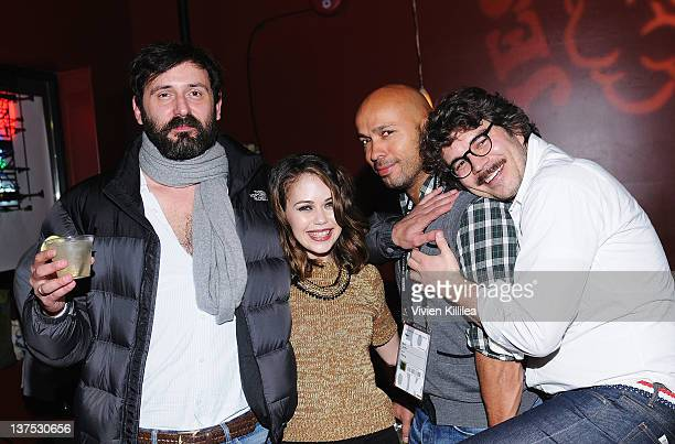 Director Quentin Dupieux actress Alexis Dziena actor Eric Judor and producer Gregory Bernard attend the 'Wrong' Premiere and party at Fuego Pizzeria...