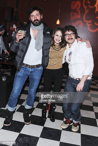 Director Quentin Dupieux actress Alexis Dziena and producer Gregory Bernard attend the 'Wrong' Premiere and party at Fuego Pizzeria during the 2012...