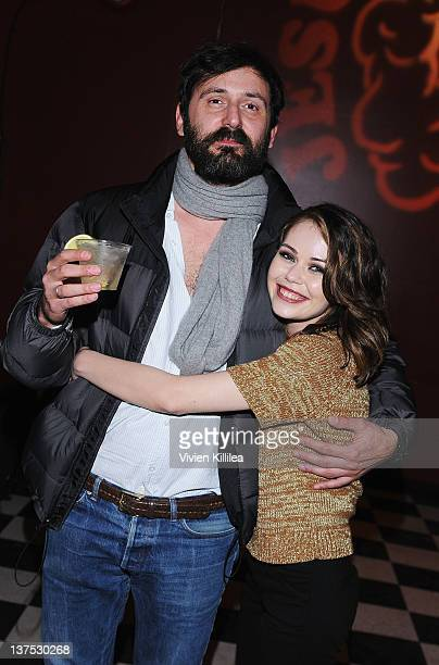 Director Quentin Dupieux and actress Alexis Dziena attend the 'Wrong' Premiere and party at Fuego Pizzeria during the 2012 Sundance Film Festival on...