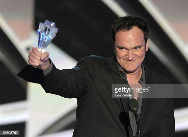 """Director Quentin Tarantino accepts the Best Original Screenplay award for """"Inglourious Basterds"""" onstage during the 15th annual Critics' Choice Movie..."""