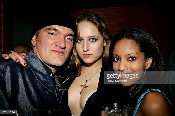 Director Quentin Tarantino actress Leelee Sobieski and Azie attend Usher's Private Grammy Party hosted by Entertainment Weekly held at the Geisha...