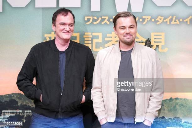 Director Quentin Tarantino and actor Leonardo DiCaprio attend the press conference for the Japan premiere of 'Once Upon A Time In Hollywood' on...