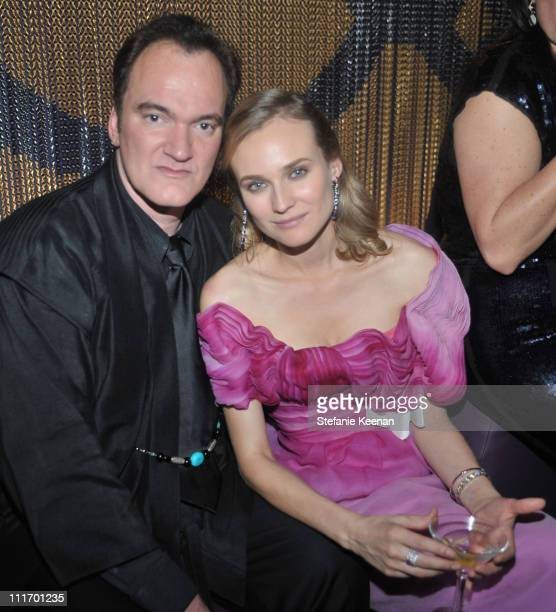 Director Quentin Tarantino and actress Diane Kruger attend the Weinstein Company Golden Globes after party cohosted by Martini held at BAR 210 at The...