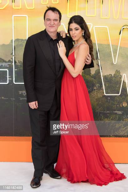 Director Quentin Tarantino and Daniela Pick attend the Once Upon a Time in Hollywood UK Premiere at Odeon Luxe Leicester Square on July 30 2019 in...