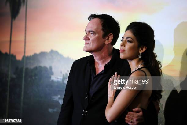 Director Quentin Tarantino and Daniela Pick attend the premiere of the movie Once Upon a time in Hollywood at Cinema Adriano on August 02 2019 in...
