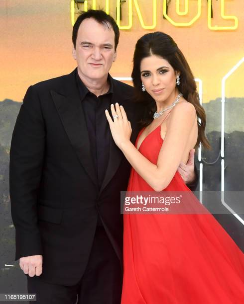 Director Quentin Tarantino and Daniella Pick attend the Once Upon a Time in Hollywood UK Premiere at the Odeon Luxe Leicester Square on July 30 2019...