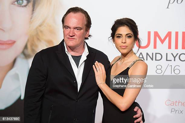 Director Quentin Tarantino and Daniella Pick attend the Opening Ceremony of the 8th Film Festival Lumiere on October 8 2016 in Lyon France