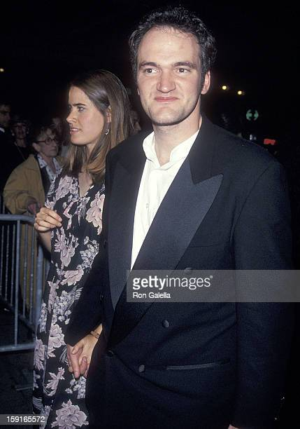Director Quentin Tarantino and date Grace Lovelace attend the 32nd Annual New York Film Festival Opening Night 'Pulp Fiction' Screening on September...