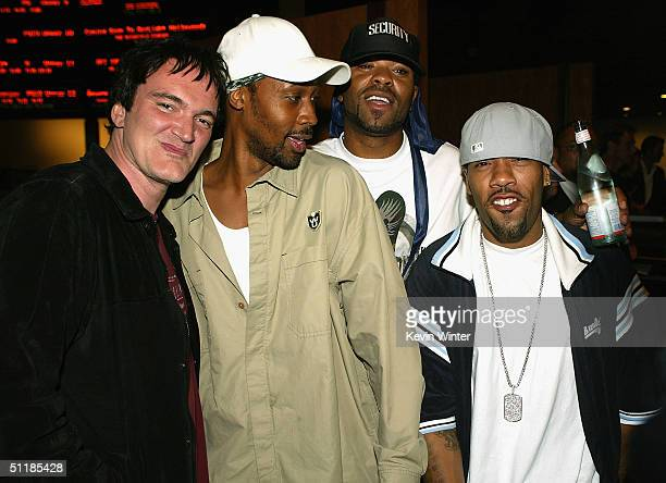 Director Quentin Tarantino and HipHop artists RZA Method Man and Redman pose at the afterparty for the premiere of Miramax's 'Hero' at the Arclight...
