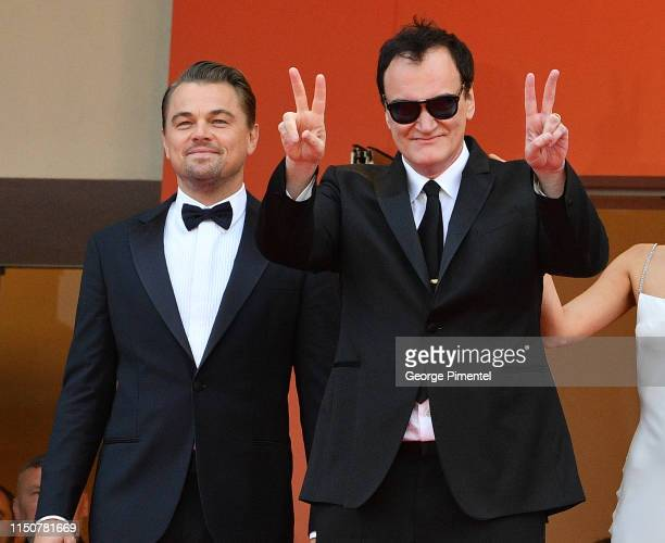 Director Quentin Tarantino and Leonardo DiCaprio attend the screening of Once Upon A Time In Hollywood during the 72nd annual Cannes Film Festival on...