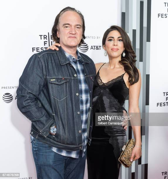 Director Quentin Tarantino and Singer/actress Daniella Pick attend the 'Reservoir Dogs' 25th Anniversary Screening during 2017 Tribeca Film Festival...
