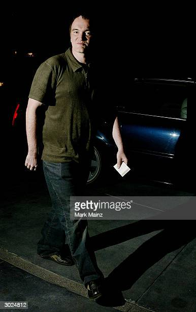 Director Quentin Tarantino arrives at Miramax's Annual Max Awards held at the Regis Hotel on February 28 2004 in Beverly Hills California