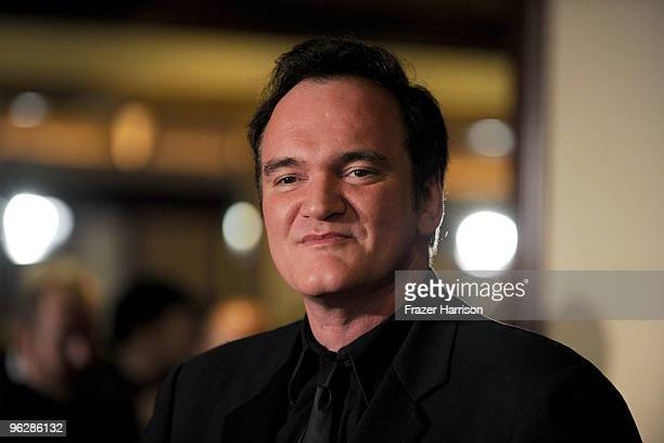 Director Quentin Tarantino arrives at the 62nd Annual Directors Guild Of America Awards at the Hyatt Regency Century Plaza on January 30 2010 in...