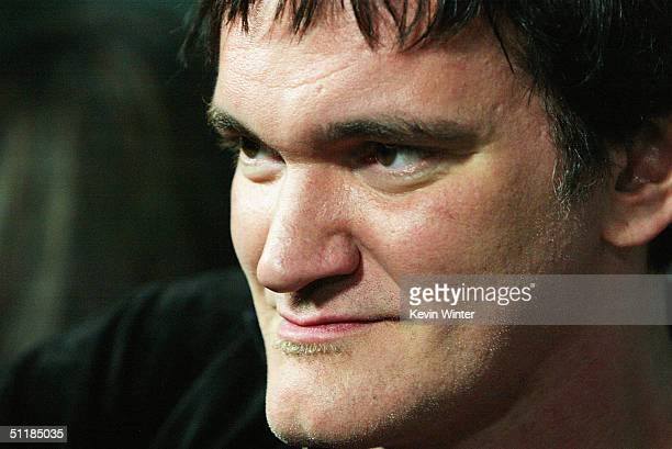 """Director Quentin Tarantino arrives at the premiere of Miramax's """"Hero"""" at the Arclight Theater on August 17, 2004 in Los Angeles, California."""