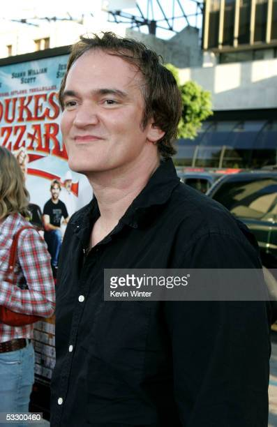 """Director Quentin Tarantino arrives at the Premiere Of """"The Dukes of Hazzard"""" at the Grauman's Chinese Theatre on July 28, 2005 in Hollywood,..."""