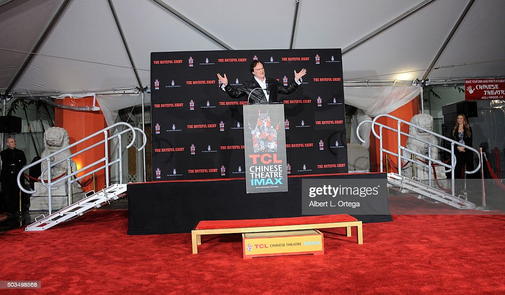 Director Quentin Tarantino attends his hands and footprints ceremony held at TCL Chinese Theatre on January 5, 2016 in Hollywood, California.