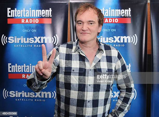 Director Quentin Tarantino attends SiriusXM's Entertainment Weekly Radio Channel Broadcasts From ComicCon 2015 at Hard Rock Hotel San Diego on July...