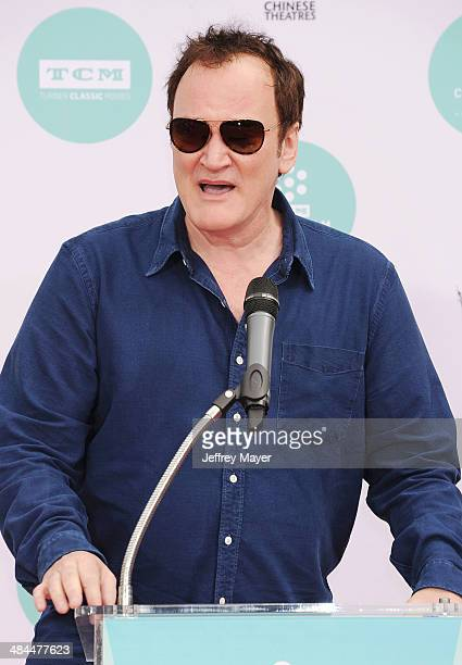 Director Quentin Tarantino attends the 2014 TCM Classic Film Festival Jerry Lewis Hand And Footprint Ceremony at TCL Chinese Theatre IMAX on April 12...