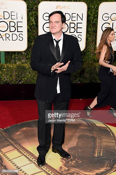 Director Quentin Tarantino attends the 73rd Annual Golden Globe Awards held at the Beverly Hilton Hotel on January 10 2016 in Beverly Hills California