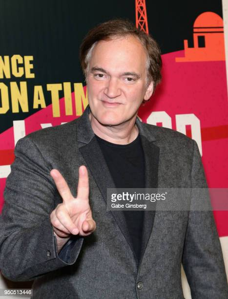 Director Quentin Tarantino attends the CinemaCon 2018 Gala Opening Night Event: Sony Pictures Highlights its 2018 Summer and Beyond Films at The...
