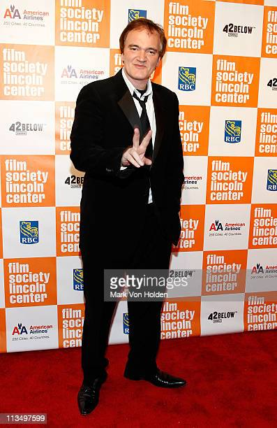 Director Quentin Tarantino attends The Film Society of Lincoln Center's presentation of the 38th Annual Chaplin Award at Alice Tully Hall on May 2,...