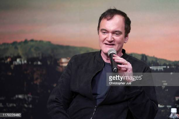 Director Quentin Tarantino attends the press conference for the Japan premiere of 'Once Upon A Time In Hollywood' on August 26, 2019 in Tokyo, Japan.