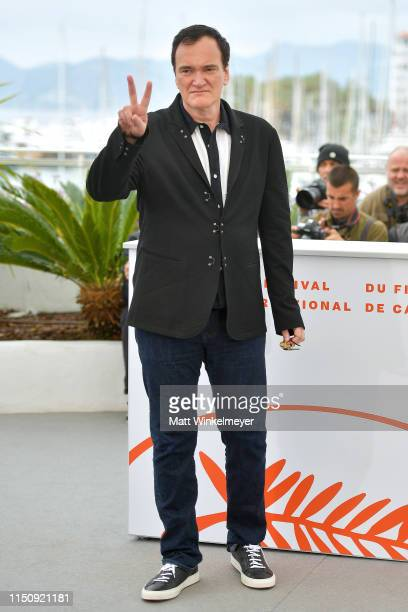 "Director Quentin Tarantino attends the photocall for ""Once Upon A Time In Hollywood"" during the 72nd annual Cannes Film Festival on May 22, 2019 in..."