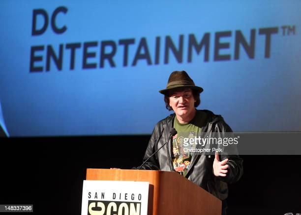 Director Quentin Tarantino makes surprise announcement of Django Unchained 5 issue comic book miniseries at the DC Entertainment Before Watchmen...