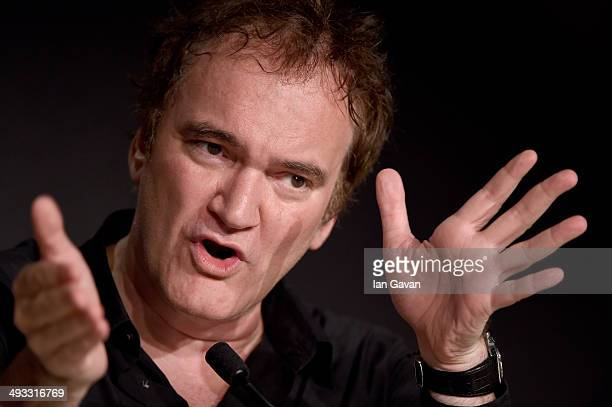Director Quentin Tarantino speaks at a press conference during the 67th Annual Cannes Film Festival on May 23 2014 in Cannes France