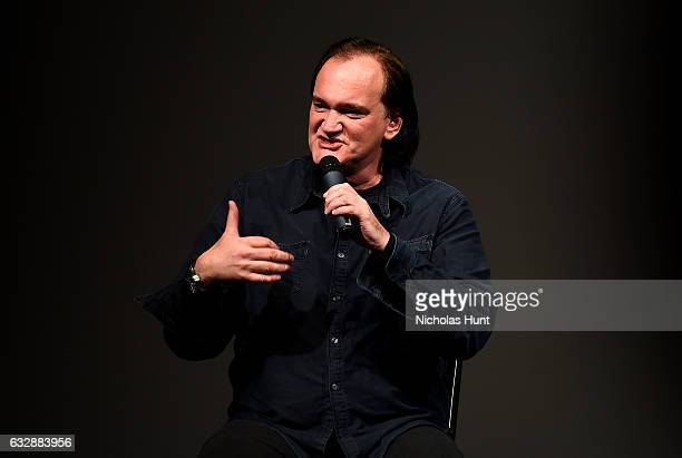 Director Quentin Tarantino speaks at the Reservoir Dogs 25th Anniversary Screening during the 2017 Sundance Film Festival at Eccles Center Theatre on...