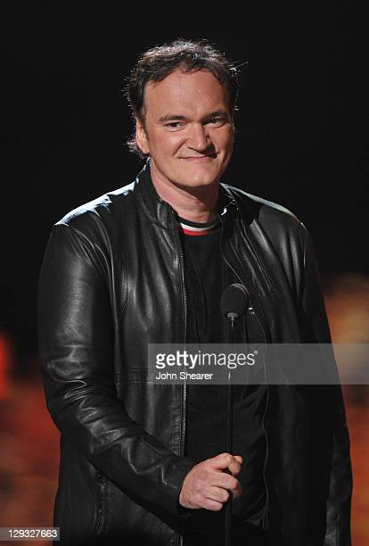 """Director Quentin Tarantino speaks onstage at Spike TV's """"SCREAM 2011"""" awards held at the Universal Studios Backlot on October 15, 2011 in Universal..."""