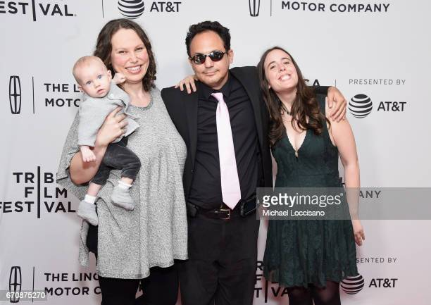 Director Rachel Israel Actors Brandon Polansky and Samantha Elisofon attends the Keep The Change Premiere during 2017 Tribeca Film Festival at...
